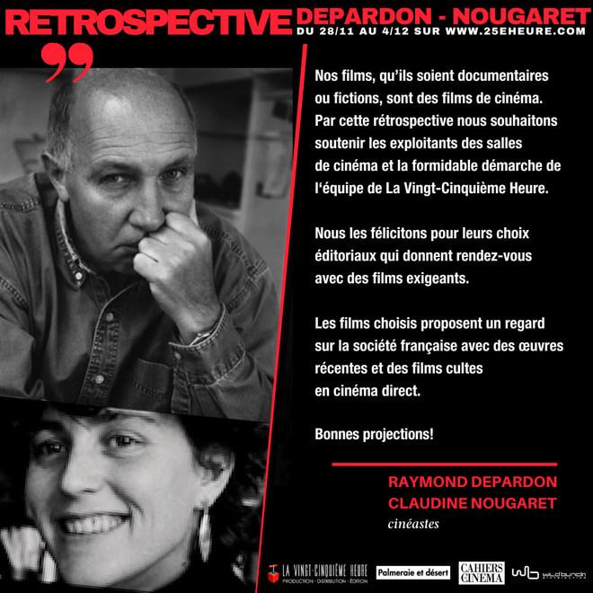 RETROPECTIVE DE RAYMOND DEPARDON ET CLAUDINE NOUGARET